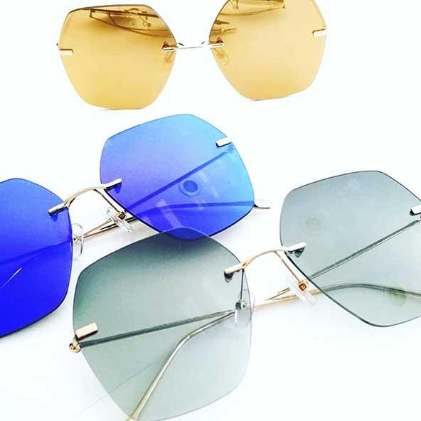عینک آفتابی چند ضلعی دخترونه با رنگهای جذاب