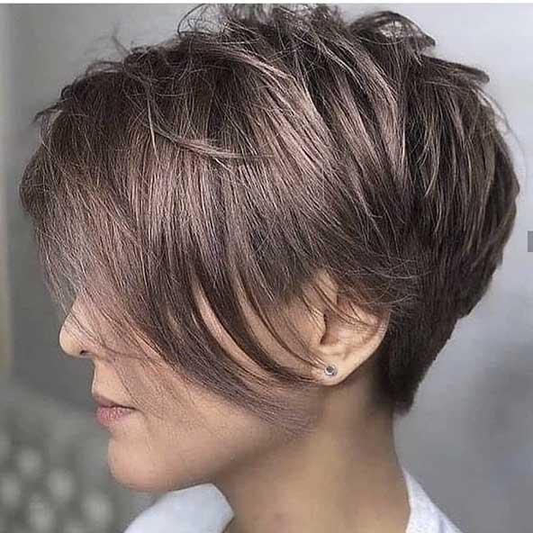 مدل کوتاه مو دخترانه جدید از نیمرخ