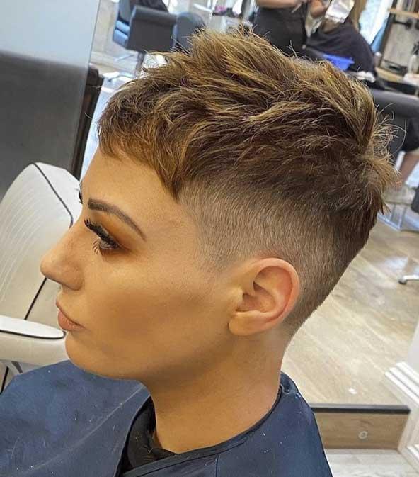 طرح موی کوتاه پسرانه برای دختر خانمها