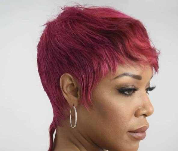 موی کوتاه رنگی برای خانمهای با سلیقه های خاص