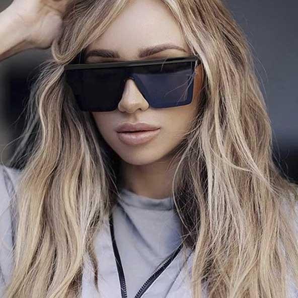 مدل عینک آفتابی شیشه بزرگ دخترانه برای سلایق خاص