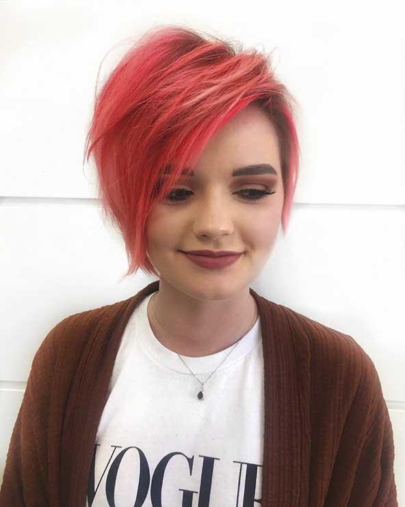 عکس مدل مو کوتاه دخترونه مخصوص صورت گرد