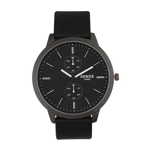 خرید ساعت مچی مردانه مشکی رنگ با صفحه گرد