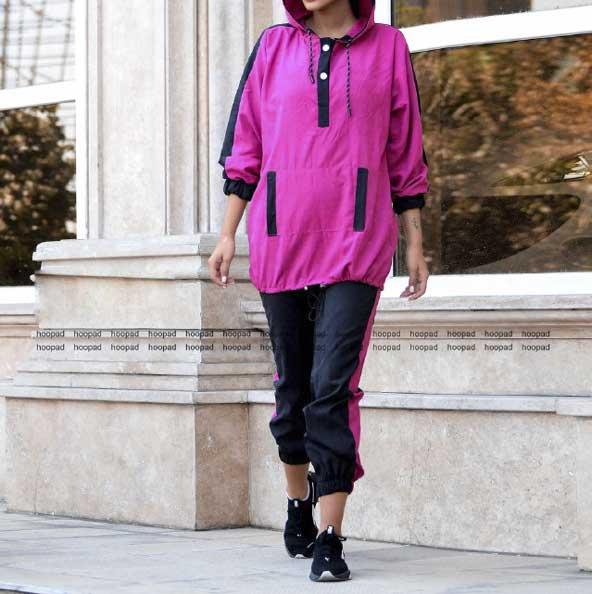 خرید ست سویشرت شلوار دخترانه بسیار شیک فری سایز اور با قیمت مناسب