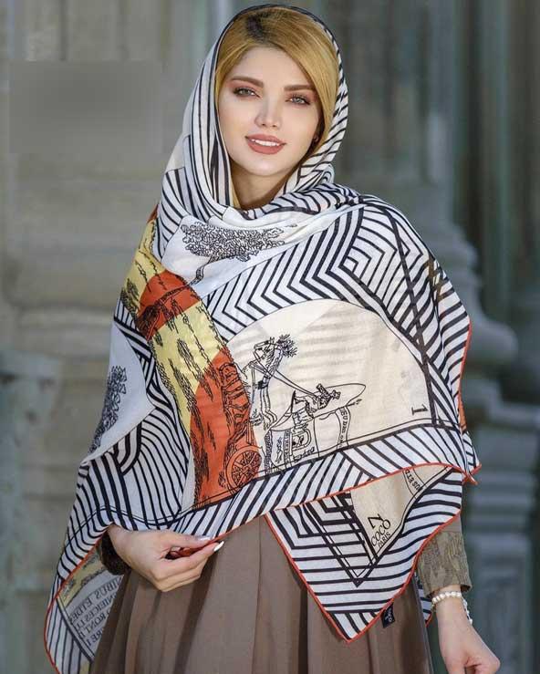 fa494a0a30f99765843b377ad39cd913 donoghte.com  - ۴۲ مدل شال و روسری جدید دخترانه و زنانه مجلسی و اسپرت نخی ۱۴۰۰